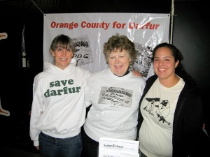 Barbara, Peggy and Jennifer from OC For Darfur